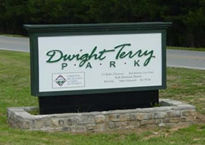 Dwight Terry Park Sign